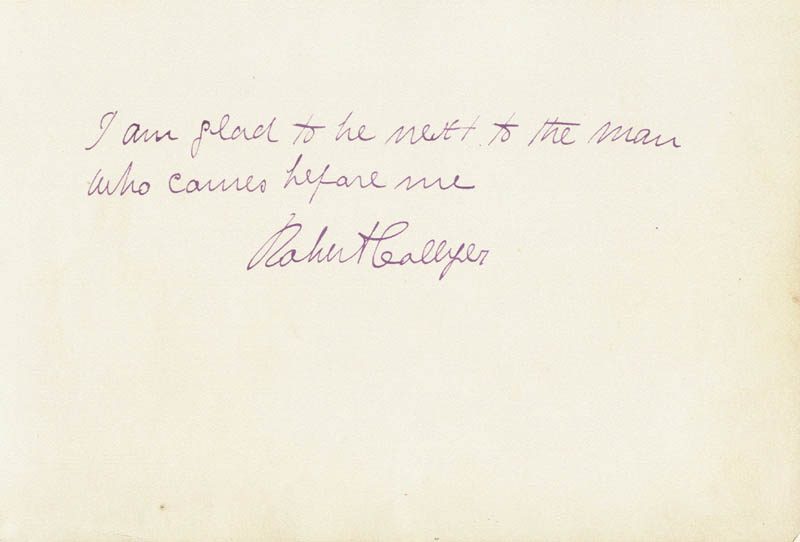 Image 1 for Robert Collyer - Autograph Quotation Signed - HFSID 198008