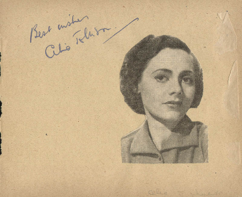 Image 1 for Celia Johnson - Autograph Sentiment Signed co-signed by: Veronica Rose - HFSID 19894