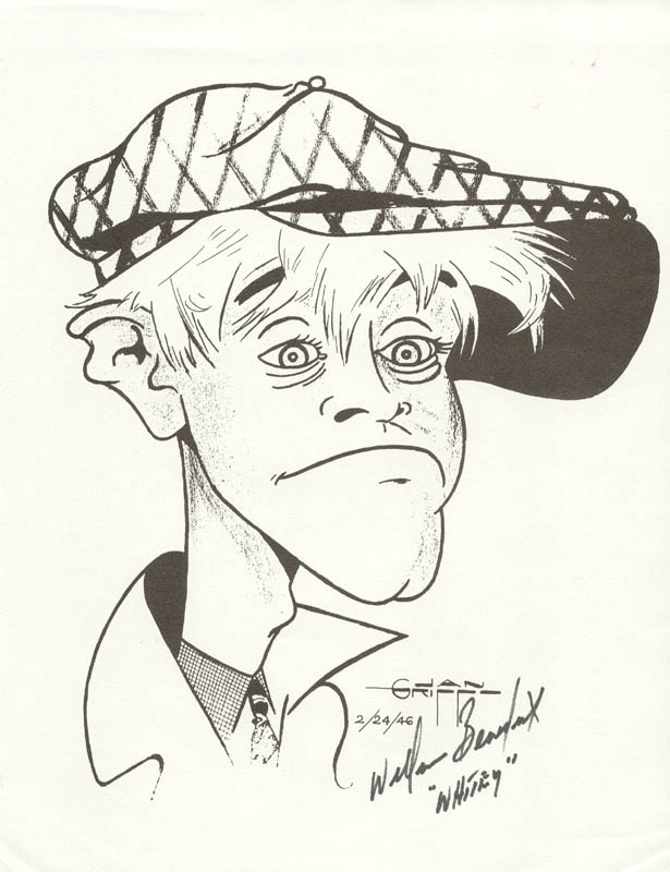 Image 1 for William 'Billy' Benedict - Caricature Signed - HFSID 199301