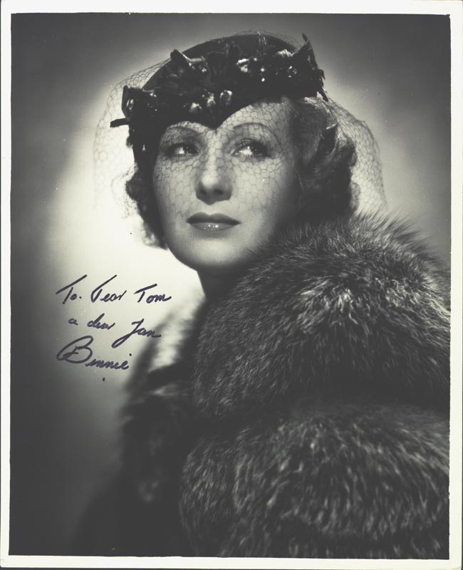 Image 1 for Binnie Barnes - Autographed Inscribed Photograph - HFSID 199549