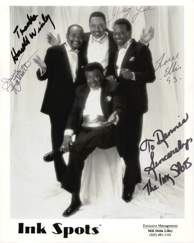 Image 1 for The Ink Spots - Autographed Inscribed Photograph 1993 with co-signers - HFSID 199694