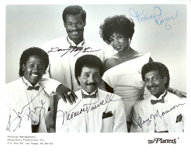 Image 1 for The Platters - Printed Photograph Signed In Ink with co-signers - HFSID 199707