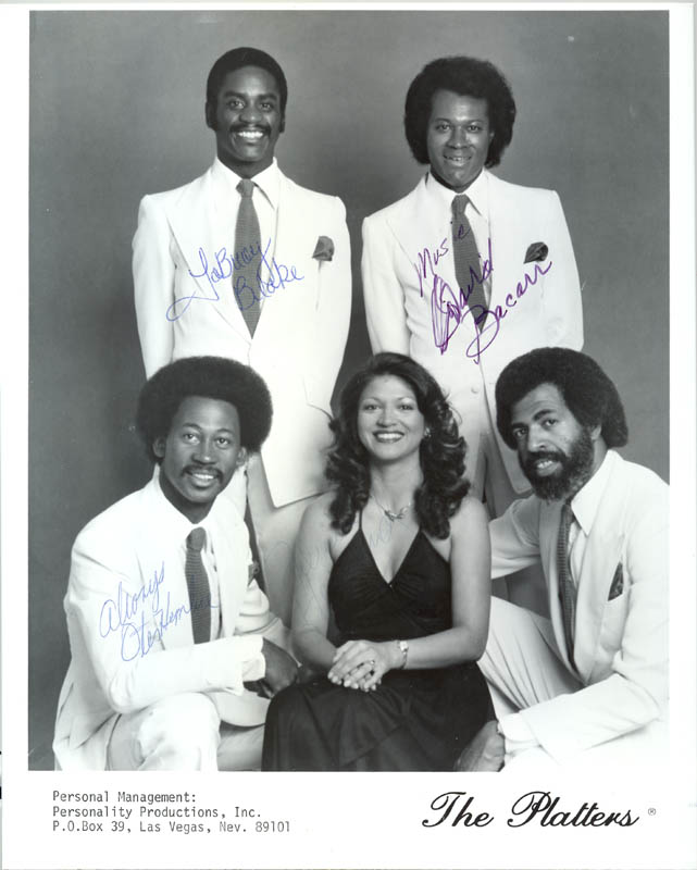Image 1 for The Platters - Autographed Signed Photograph with co-signers - HFSID 199709
