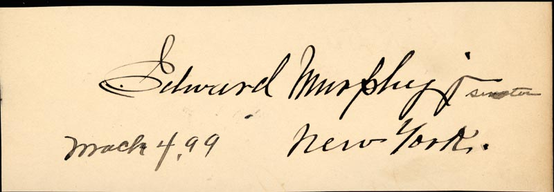 Image 3 for Governor Cushman K. Davis - Autograph 12/26/1898 co-signed by: Edward Murphy Jr. - HFSID 1997