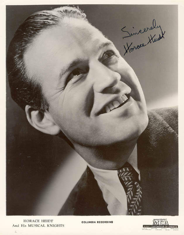 Image 1 for Horace Heidt - Autographed Signed Photograph - HFSID 200108