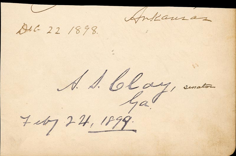 Image 3 for Lt. General Adna R. Chaffee - Autograph 04/13/1899 co-signed by: Alexander S. Clay - HFSID 2001