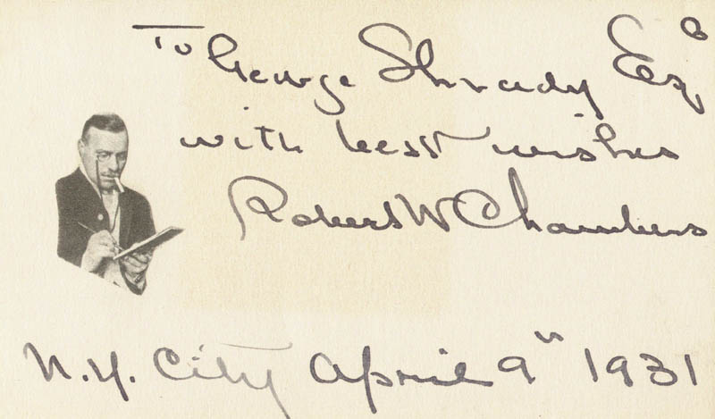 Image 1 for Robert W. Chambers - Autograph Note Signed 04/09/1931 - HFSID 200588