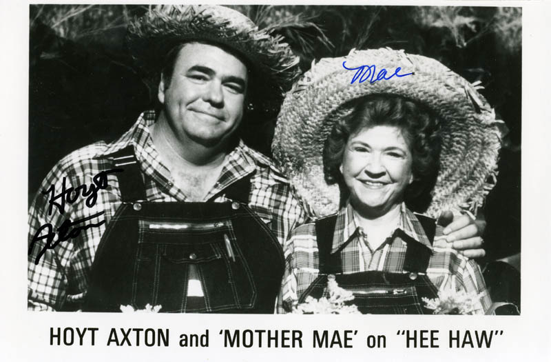 Image 1 for Hoyt Axton - Printed Photograph Signed In Ink co-signed by: Mae Boren 'Mother Mae' Axton - HFSID 200640