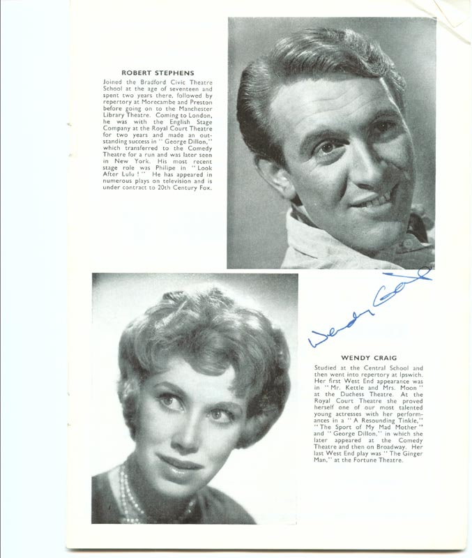 Image 1 for Wrong Side Of The Park Play Cast - Program Signed co-signed by: Joyce Carey, Wendy Craig - HFSID 201153