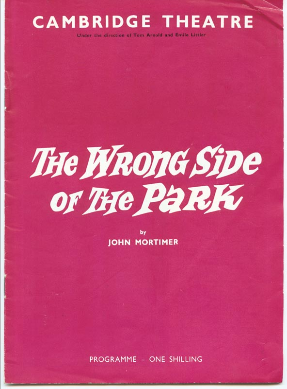 Image 4 for Wrong Side Of The Park Play Cast - Program Signed co-signed by: Joyce Carey, Wendy Craig - HFSID 201153