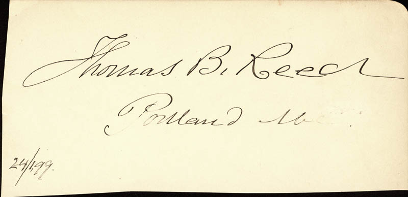 Image 1 for Thomas B. Reed - Autograph 02/04/1899 co-signed by: Sereno E. Payne - HFSID 2012