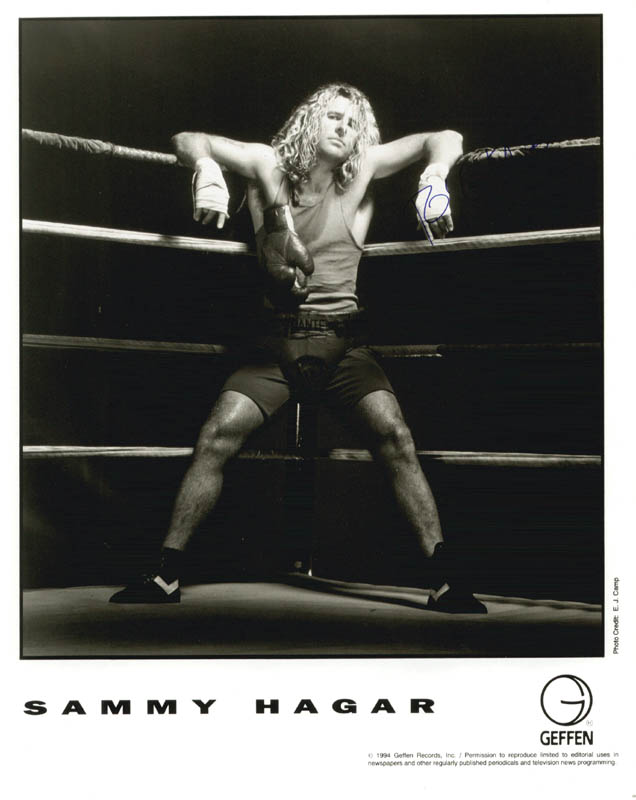 Image 1 for Van Halen (Sammy Hagar) - Printed Photograph Signed In Ink - HFSID 201209