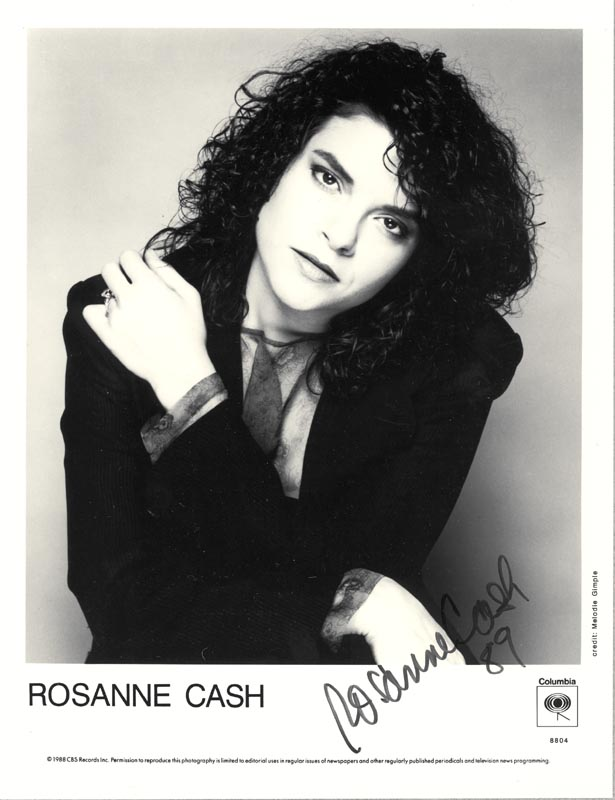 Image 1 for Rosanne Cash - Printed Photograph Signed In Ink 1989 - HFSID 201243