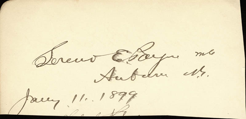 Image 3 for Thomas B. Reed - Autograph 02/04/1899 co-signed by: Sereno E. Payne - HFSID 2012
