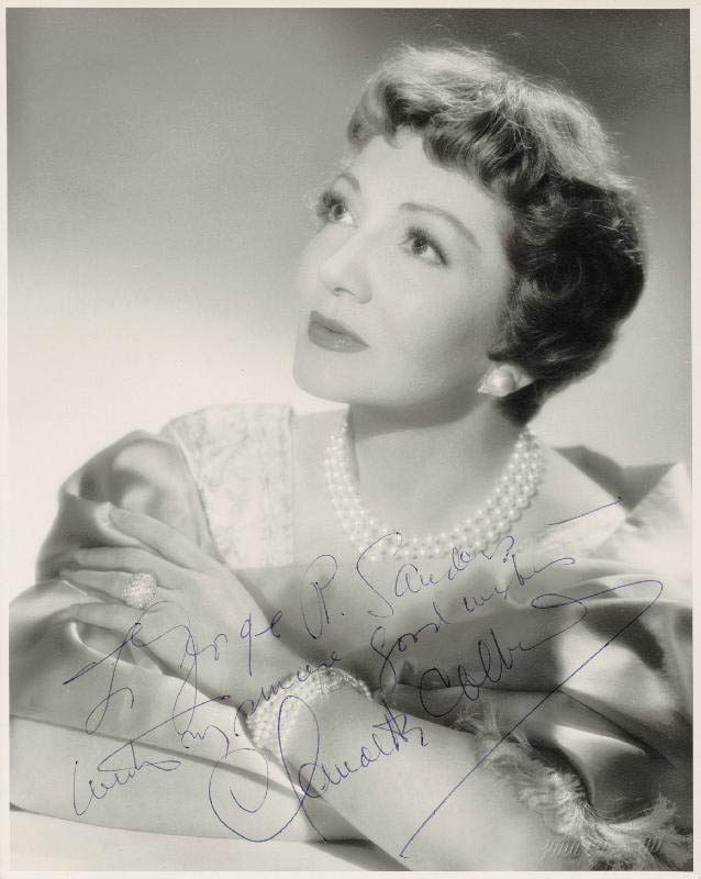 Image 1 for Claudette Colbert - Autographed Inscribed Photograph - HFSID 20141