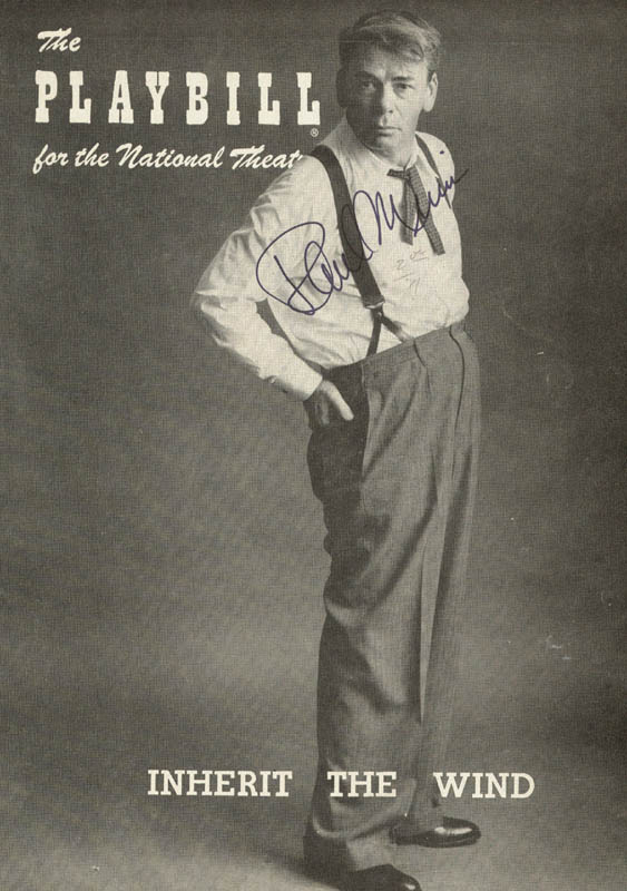 Image 1 for Paul Muni - Show Bill Cover Signed - HFSID 20145