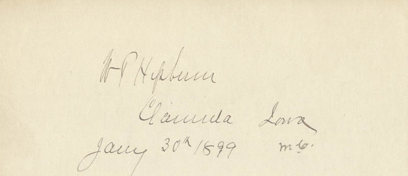Image 1 for William P. Hepburn - Autograph 01/30/1899 co-signed by: John C. Bell - HFSID 2018