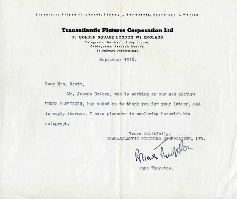 Image 1 for Anne Thurston - Typed Letter Signed 9/1948 - HFSID 201847