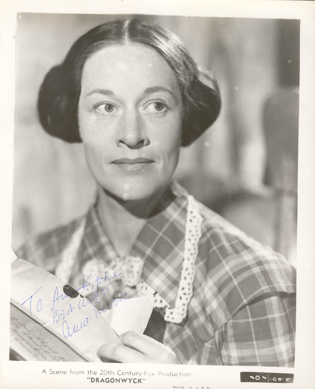 Image 1 for Anne Revere - Autographed Inscribed Photograph - HFSID 20186