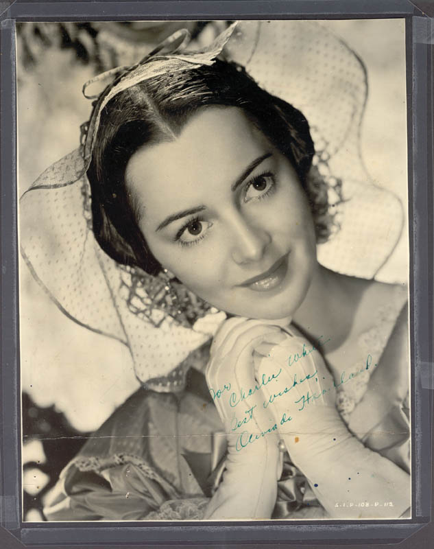 Image 1 for Olivia De Havilland - Autographed Inscribed Photograph - HFSID 20188