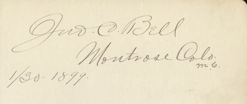 Image 3 for William P. Hepburn - Autograph 01/30/1899 co-signed by: John C. Bell - HFSID 2018
