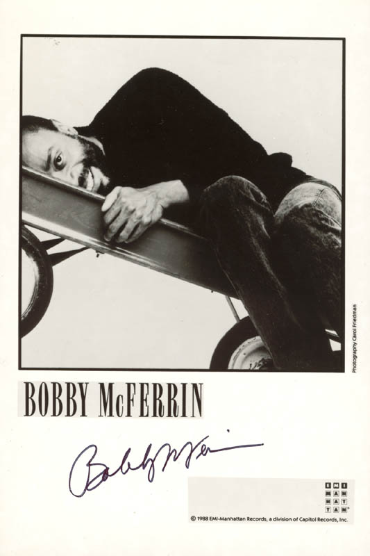 Image 1 for Bobby Mcferrin - Printed Photograph Signed In Ink - HFSID 202092