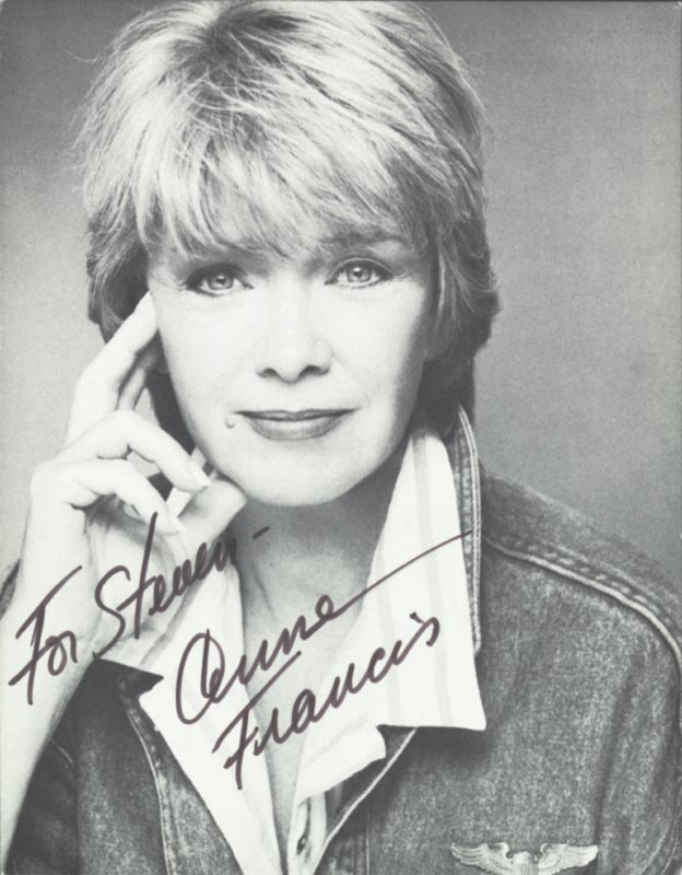 Image 1 for Anne Francis - Autographed Inscribed Photograph - HFSID 202184