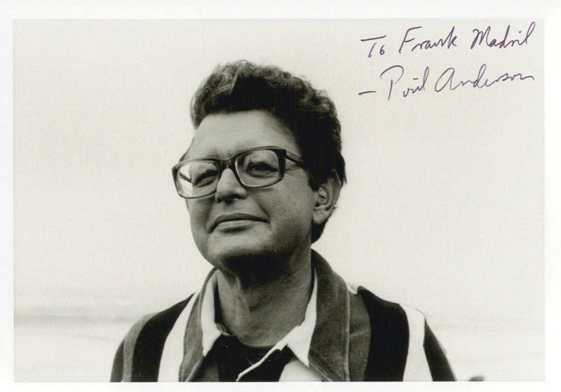 Image 1 for Poul Anderson - Autographed Inscribed Photograph - HFSID 202229