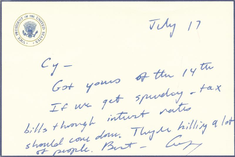 Image 1 for President George H.W. Bush - Autograph Letter Signed 8/17 - HFSID 202239