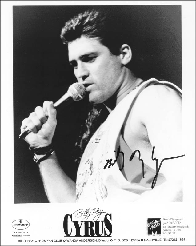 Image 1 for Billy Ray Cyrus - Autographed Signed Photograph - HFSID 202698