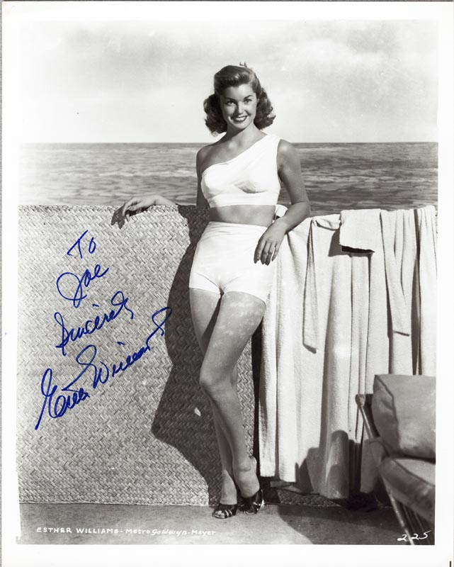Image 1 for Esther Williams - Autographed Inscribed Photograph - HFSID 202779