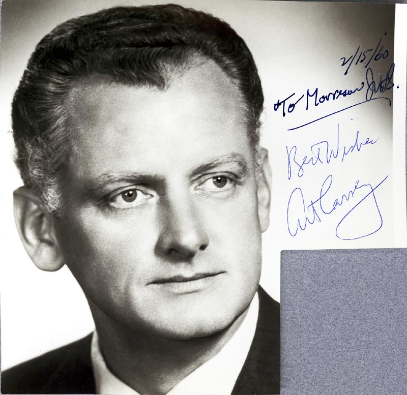 Image 1 for Art Carney - Autographed Signed Photograph 02/15/1960 - HFSID 20300