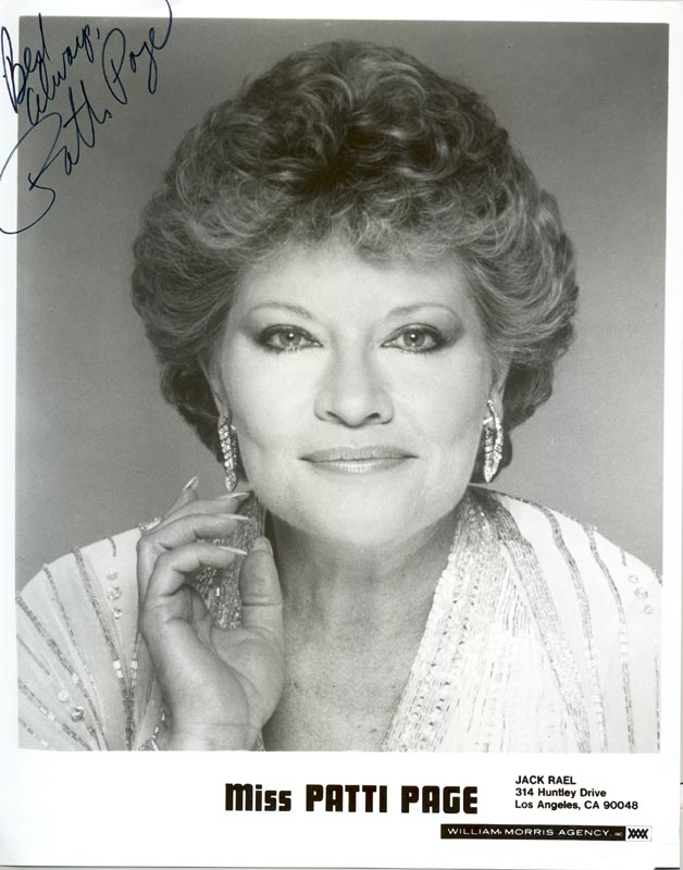 Image 1 for Patti Page - Autographed Signed Photograph - HFSID 203322