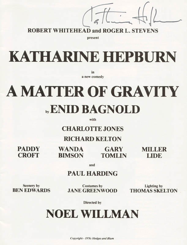 Image 1 for Katharine Hepburn - Program Signed Circa 1976 - HFSID 20340
