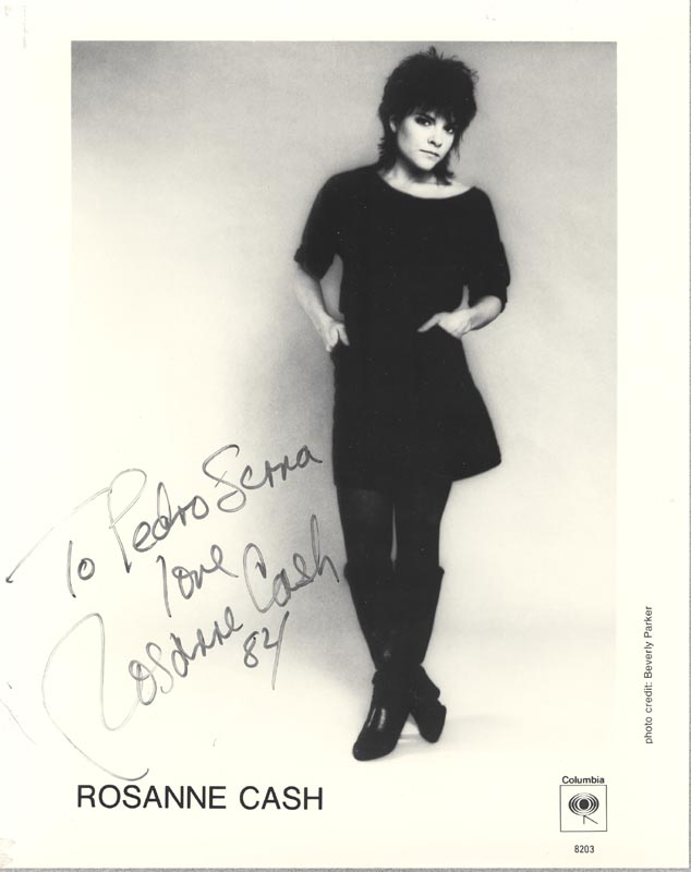 Image 1 for Rosanne Cash - Inscribed Printed Photograph Signed In Ink 1984 - HFSID 203663