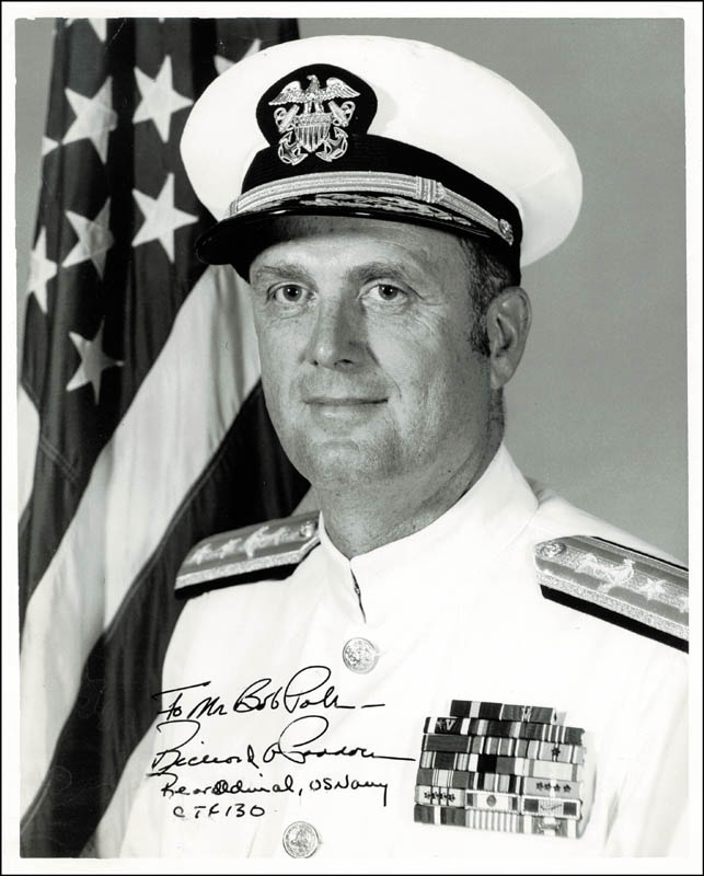Image 1 for Admiral Richard A. Paddock - Autographed Inscribed Photograph - HFSID 204050