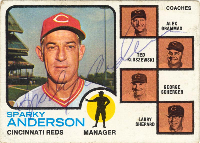 Image 1 for Sparky Anderson - Trading/Sports Card Signed - HFSID 20443