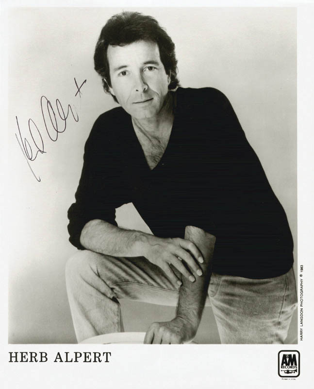 Image 1 for Herb Alpert - Printed Photograph Signed In Ink - HFSID 204433