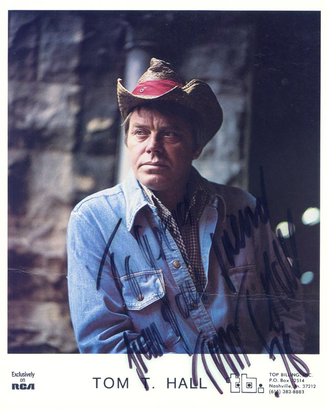 Image 1 for Tom T. Hall - Inscribed Printed Photograph Signed In Ink 1976 - HFSID 204543