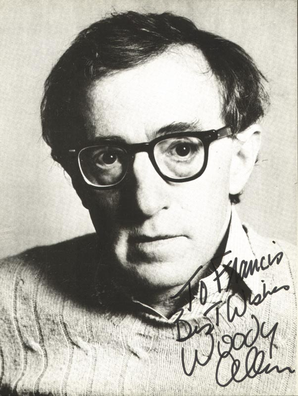 Image 1 for Woody Allen - Inscribed Picture Postcard Signed - HFSID 204662