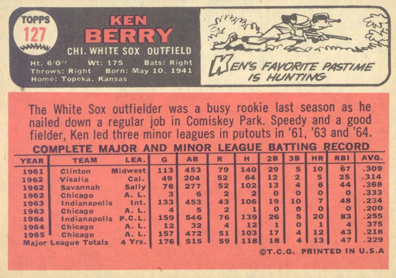 Image 3 for Ken Berry - Trading/Sports Card Signed - HFSID 20509