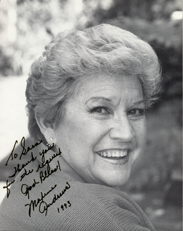 Image 1 for Maxene Andrews - Autographed Inscribed Photograph 1993 - HFSID 205202