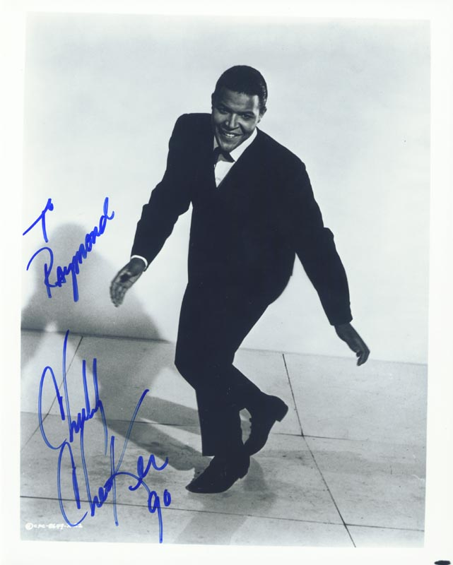 Image 1 for Chubby 'The Twist King' Checker - Autographed Signed Photograph 1990 - HFSID 205308