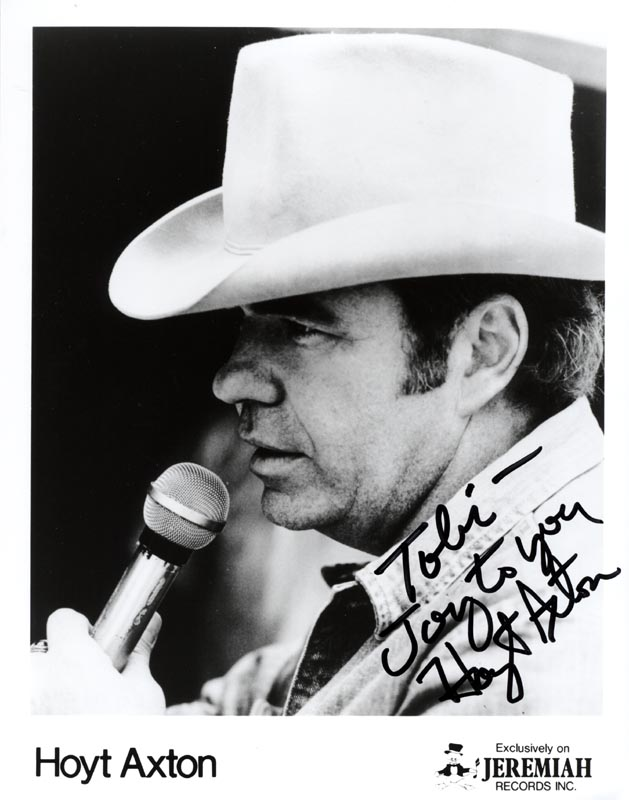 Image 1 for Hoyt Axton - Inscribed Printed Photograph Signed In Ink - HFSID 205433