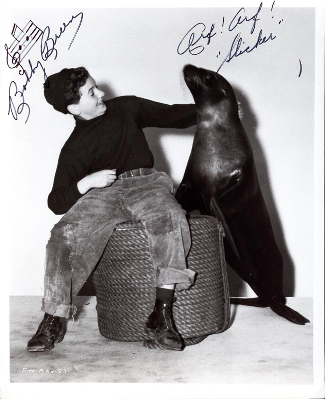 Image 1 for Bobby Breen - Autograph Musical Quotation On Photo Signed - HFSID 205490