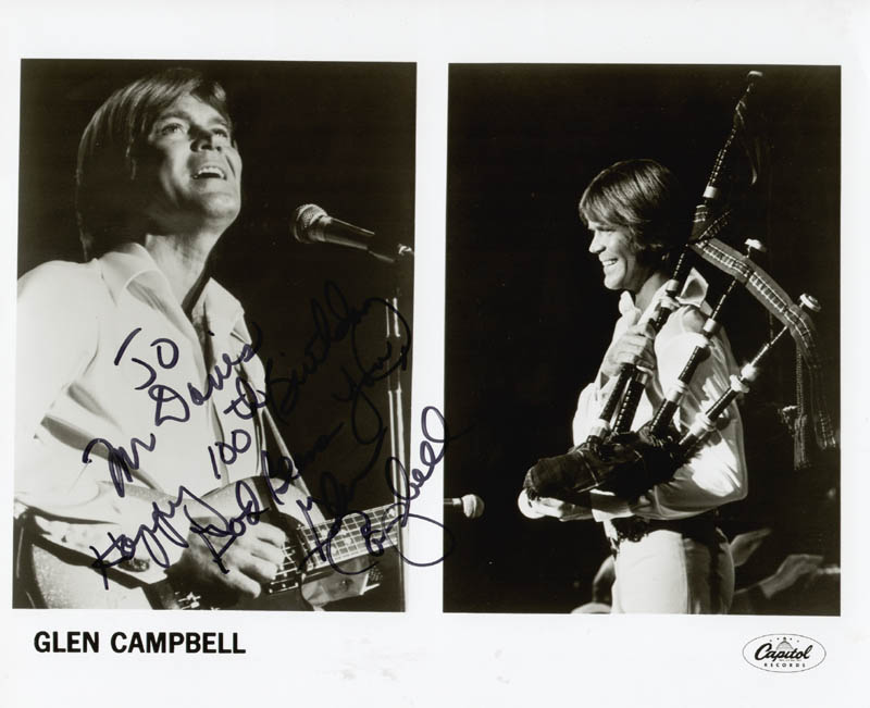Image 1 for Glen Campbell - Autographed Inscribed Photograph - HFSID 205493