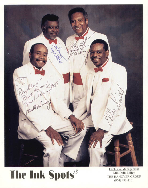 Image 1 for The Ink Spots - Autographed Inscribed Photograph with co-signers - HFSID 205552