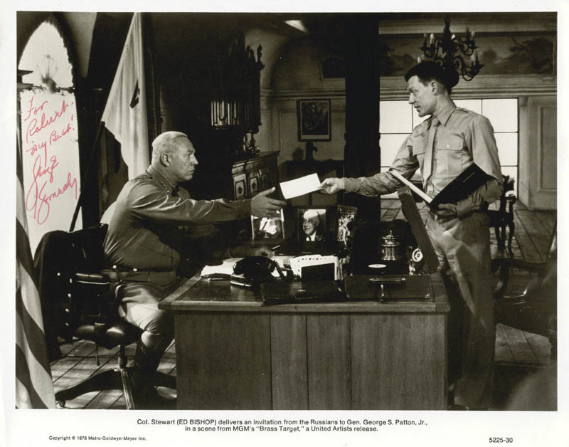 Image 1 for George Kennedy - Inscribed Printed Photograph Signed In Ink - HFSID 2059