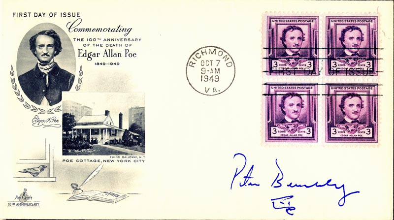 Image 1 for Peter Benchley - First Day Cover Signed - HFSID 206185