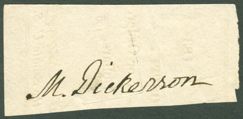 Image 1 for Mahlon Dickerson - Clipped Signature - HFSID 206239